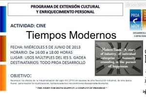 Cinema: 'Tiempos modernos', dimecres 5 juny